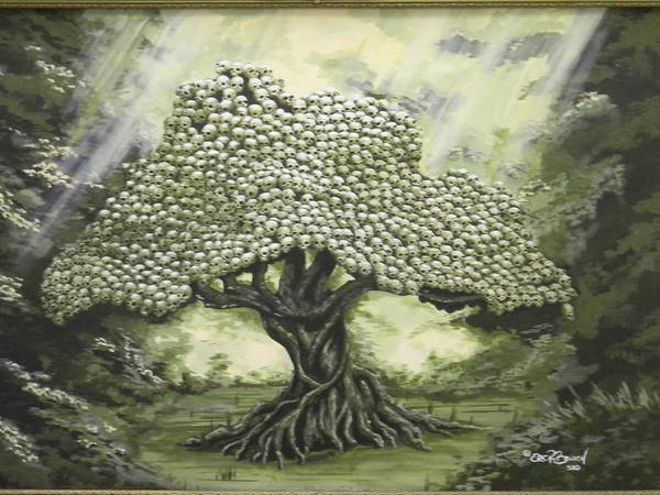 Trees Poster featuring the painting Tree Of Skulls by Eric Barich