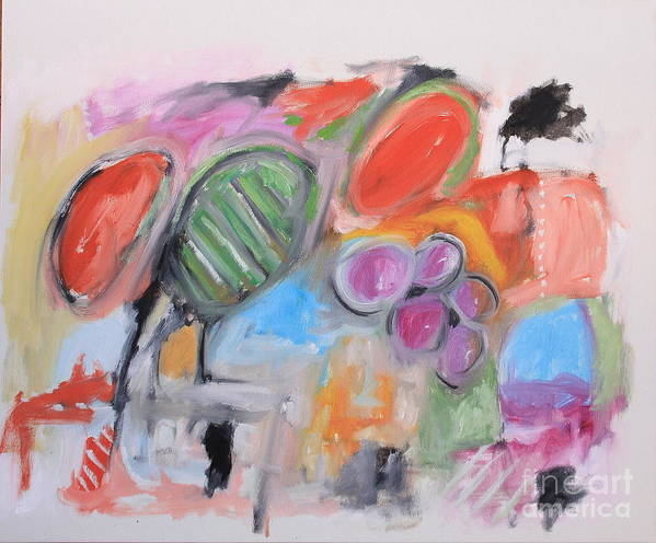 Abstract Poster featuring the painting Untitled by Michael Henderson