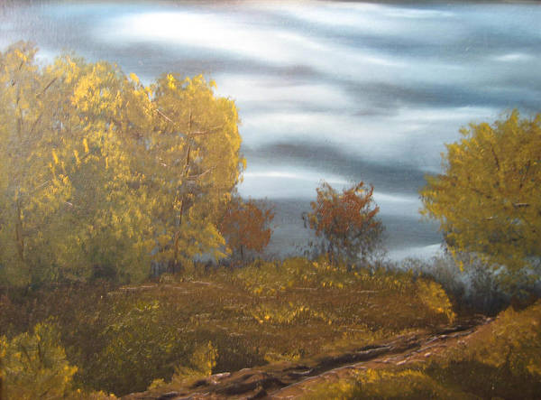 Landscape Poster featuring the painting Untitled by Todd Androy