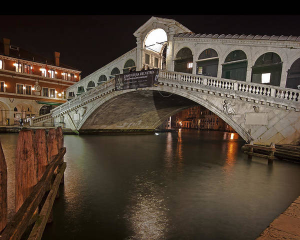 Architecture Poster featuring the photograph Venice By Night by Joana Kruse