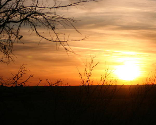 Landscape - Sunset Poster featuring the photograph West Texas Sunset by Val Conrad