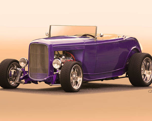 Auto Poster featuring the photograph 1932 Ford Roadster by Dave Koontz