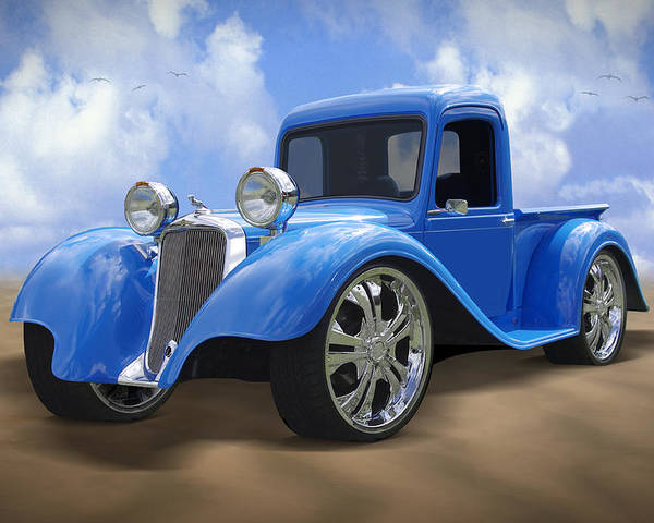 Dodge Poster featuring the photograph 34 Dodge Pickup by Mike McGlothlen