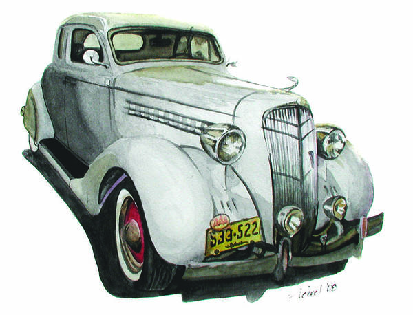 Desoto Poster featuring the painting 35 Desoto by Ferrel Cordle