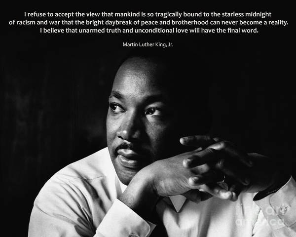 Martin Luther King Jr. Poster featuring the photograph 39- Martin Luther King Jr. by Joseph Keane