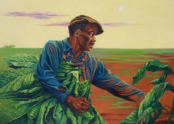 Figurative Poster featuring the painting 3rd Pickins by Arnold Hurley