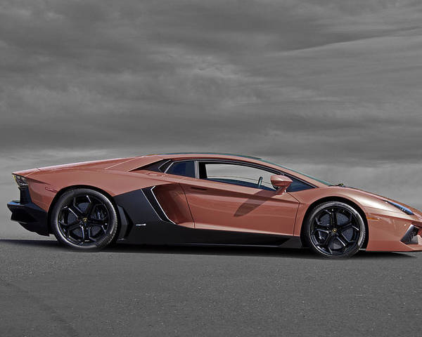 Auto Poster featuring the photograph 2012 Lamborghini Aventador by Dave Koontz
