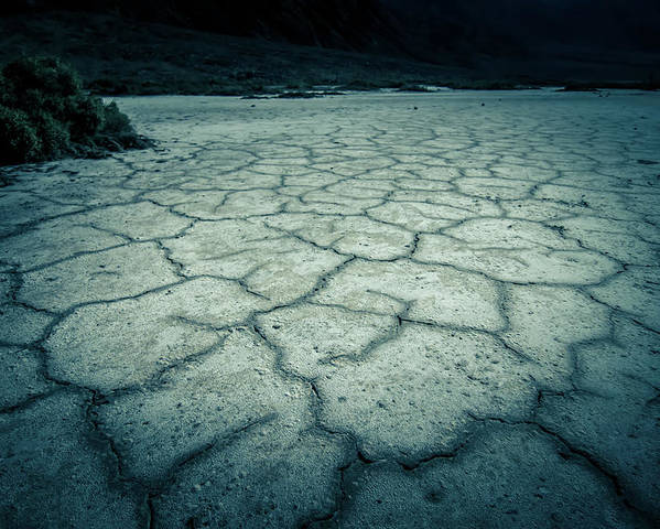 Death Poster featuring the photograph Badwater Basin Death Valley Salt Formations by Alex Grichenko