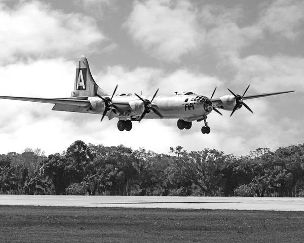 Wwii Poster featuring the photograph Boeing B29 Superfortress by Chris Smith