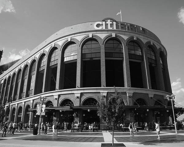 Arch Poster featuring the photograph Citi Field - New York Mets by Frank Romeo
