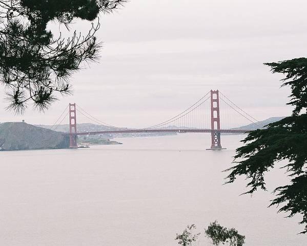 Landscape Poster featuring the photograph Golden Gate Bridge by Edward Wolverton