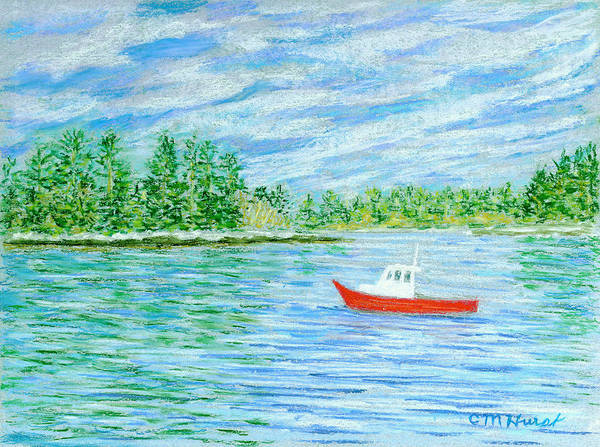 Lobster Boat Poster featuring the painting Maine Lobster Boat by Collette Hurst