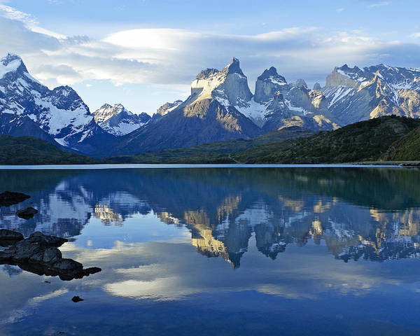 Patagonia Poster featuring the photograph Patagonia Reflection by Michele Burgess
