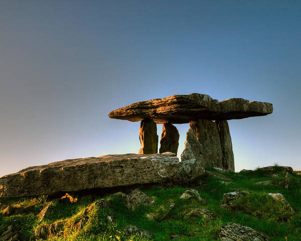 Poulnabrone Poster featuring the photograph Poulnabrone Dolmen by John Quinn
