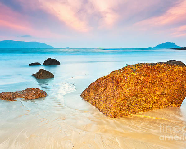 Beach Poster featuring the photograph Sunrise by MotHaiBaPhoto Prints