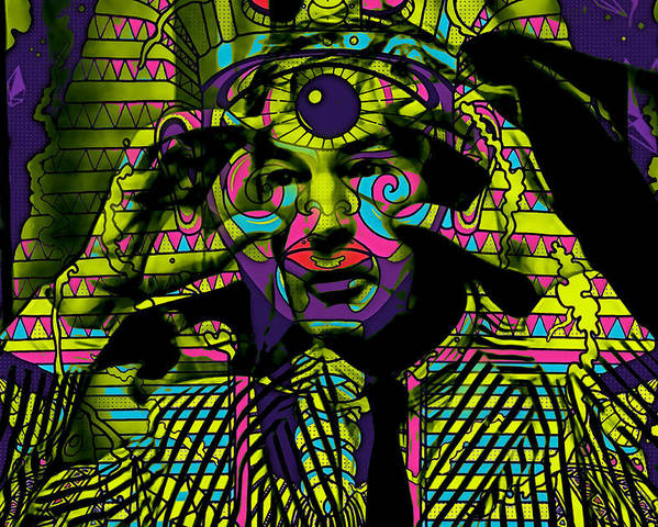 Timothy Leary Poster featuring the mixed media Timothy Leary Collection by Marvin Blaine