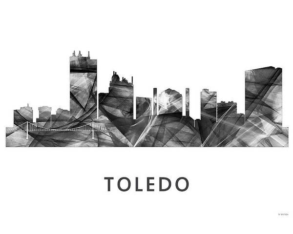 Toledo Ohio Skyline Poster featuring the digital art Toledo Ohio Skyline by Marlene Watson