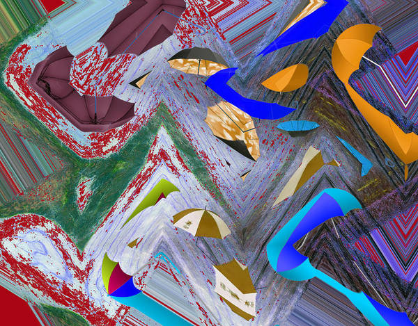 Abstract Poster featuring the digital art 44 U 172 by John Saunders