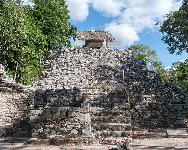 Mexico Quintana Roo Poster featuring the digital art Conjunto Pinturas At The Coba Ruins by Carol Ailles