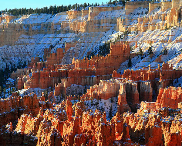 Bryce Poster featuring the photograph Sunset Point In Bryce Canyon by Pierre Leclerc Photography