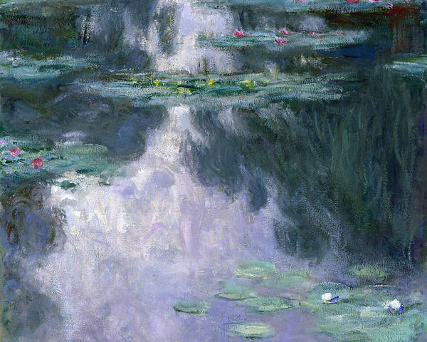 Nympheas Poster featuring the painting Waterlilies by Claude Monet