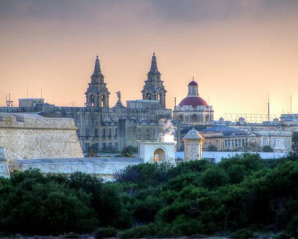 Valletta Poster featuring the photograph Valletta, Malta by Paul James Bannerman