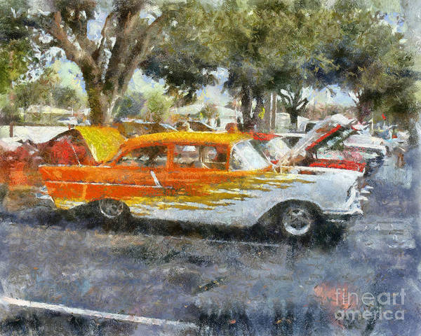 57 Chevy Poster featuring the painting 57 Chevy by Chris Colter