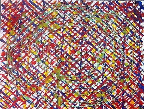 Abstract Poster featuring the painting Jugglery Of Colors by Baljit Chadha