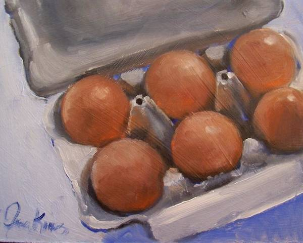 Still Life Poster featuring the painting 6 Pack by Susan Jenkins