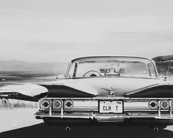 Lowrider Poster featuring the digital art 60 Impala Lowrider by Colin Tresadern