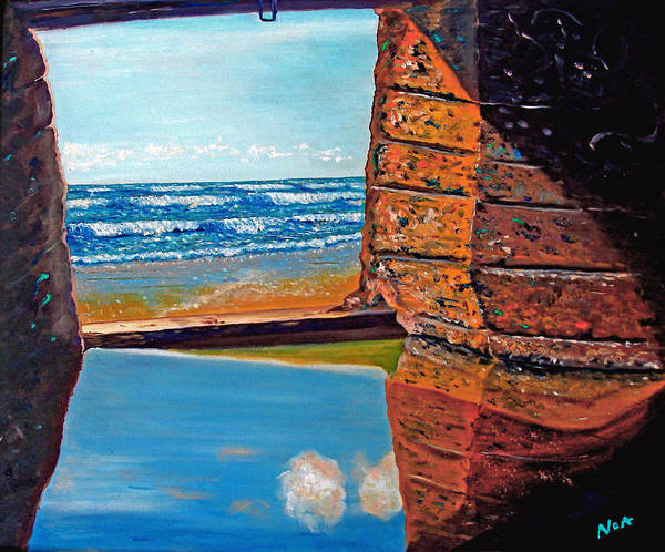 Seascape Poster featuring the painting 60 Years After ...- 2000 by Aymeric NOA