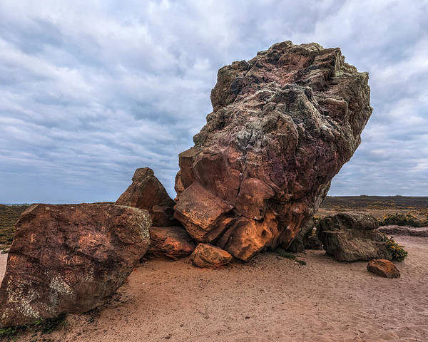 Agglestone Rock Poster featuring the photograph Agglestone Rock - England by Joana Kruse