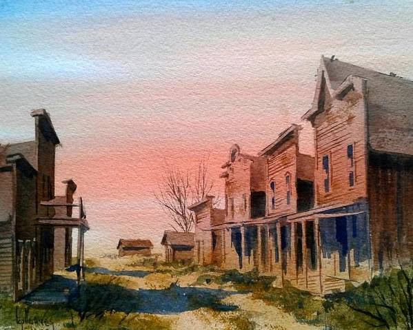Llandscape Poster featuring the painting Ghost Town by Kevin Heaney