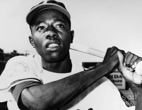 1953 Poster featuring the photograph Hank Aaron (1934- ) by Granger