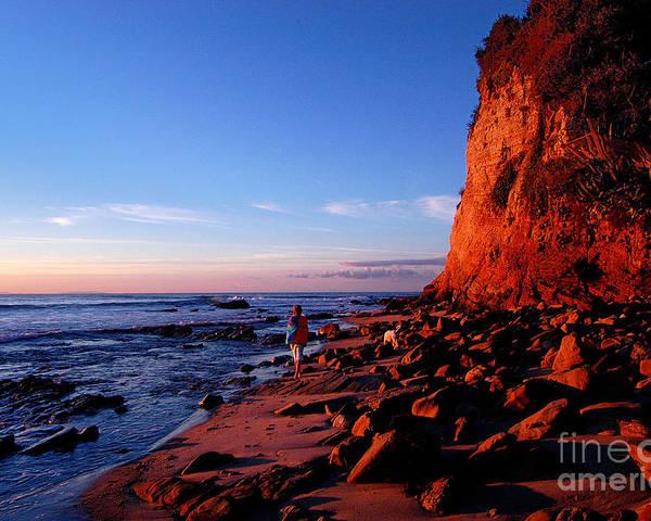 Malibu Poster featuring the photograph Malibu Sunrise by Marc Bittan