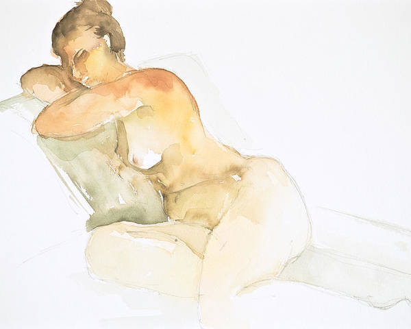 Poster featuring the painting Nude Series by Eugenia Picado