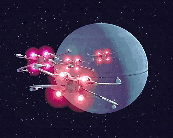 Collection Star Wars Poster featuring the digital art Star Wars Episode 1 Art by Larry Jones