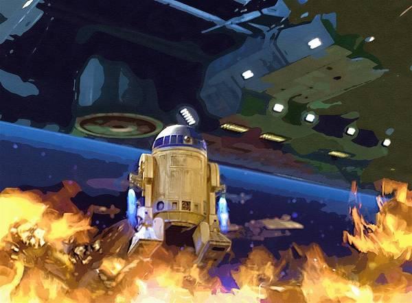 Star Wars Clone Trooper Poster featuring the digital art Star Wars Old Art by Larry Jones