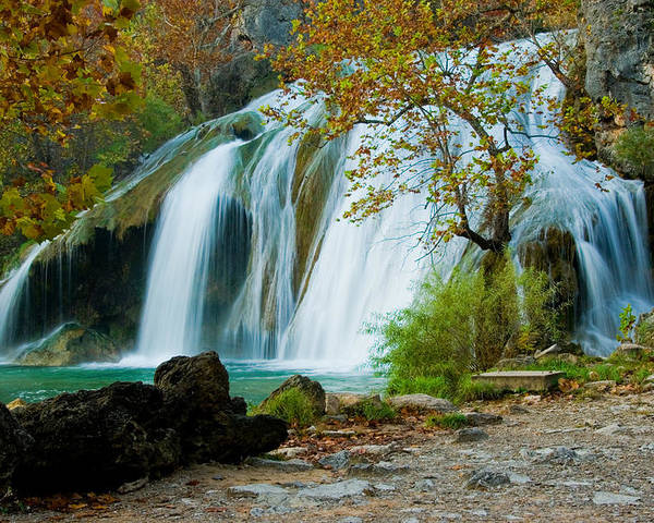 Waterfall Poster featuring the photograph Turner Falls by Iris Greenwell