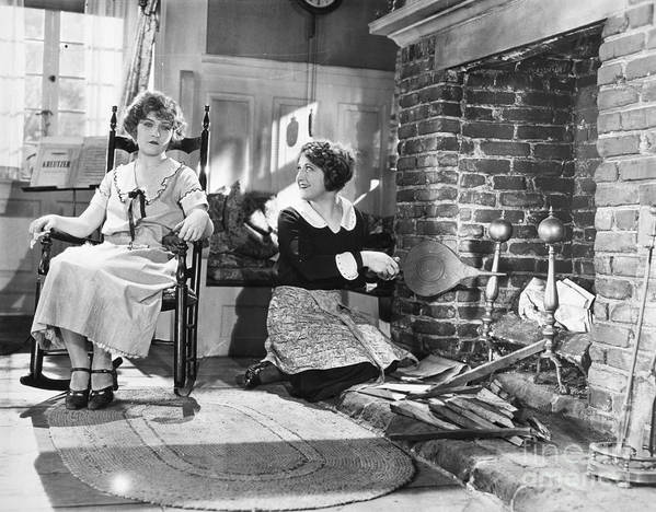 -housework & Cooking- Poster featuring the photograph Silent Film Still by Granger