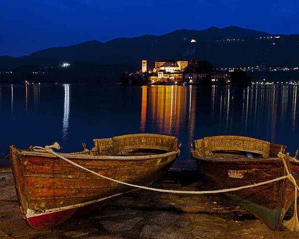 Orta Poster featuring the photograph Island Of San Giulio by Joana Kruse