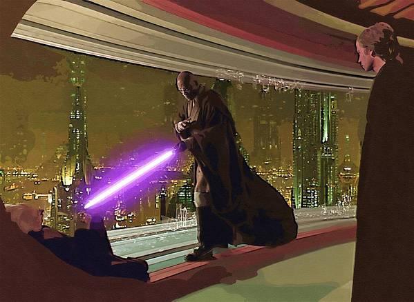 Star Wars Darth Vader Poster featuring the digital art Star Wars Movie Poster by Larry Jones
