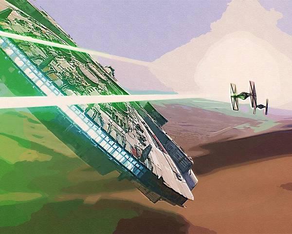 Fighter Star Wars Poster featuring the digital art Star Wars Old Art by Larry Jones