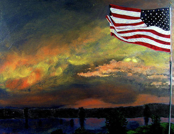 Landscape Poster featuring the painting 9-11 by Stan Hamilton