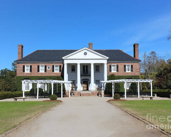 #house Poster featuring the photograph The Main House At Boone Hall by Rupali Kumbhani