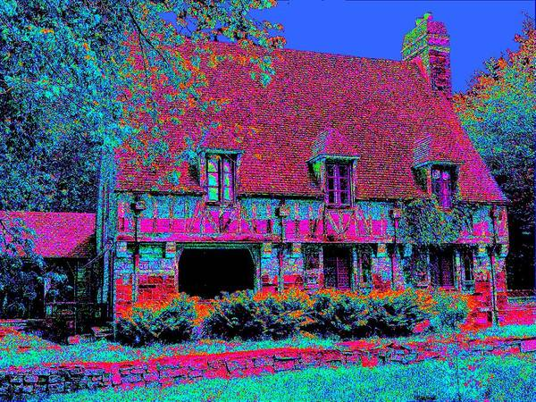 Cottage Poster featuring the painting 91f Dream Cottage by Ed Immar