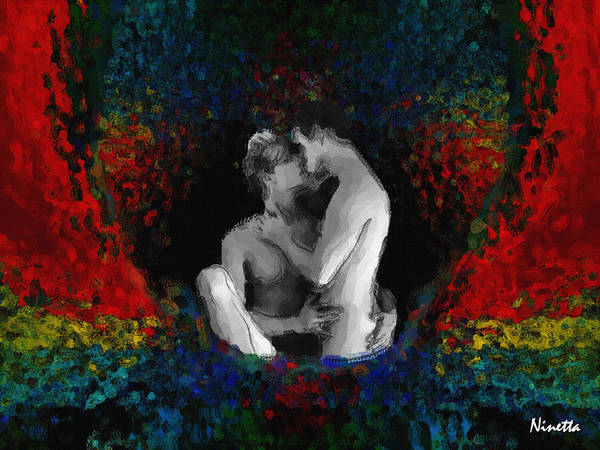 Men Poster featuring the digital art A Bath Of Colors by Andrea N Hernandez