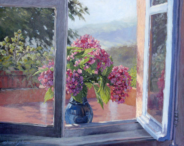 Landscape Painting Poster featuring the painting A Brand New Day by L Diane Johnson