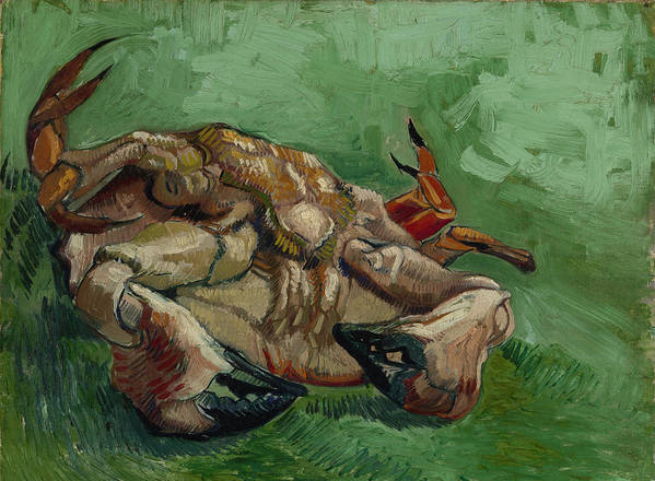 van Gogh Poster featuring the painting A Crab On Its Back - 1988 by Vincent Van Gogh