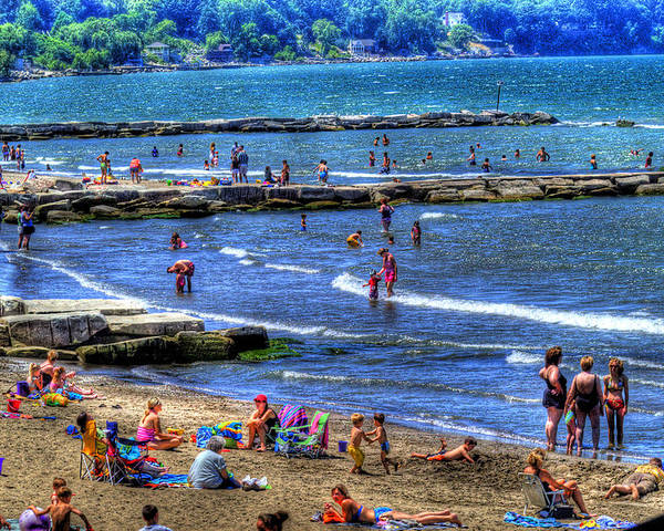 Beach Poster featuring the photograph A Day At The Beach by Neil Doren